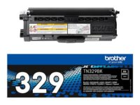 Brother TN329BK - svart - original - tonerpatron