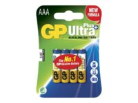 GP Ultra Plus - Batteri 4 x AAA / LR03 - Alkalisk