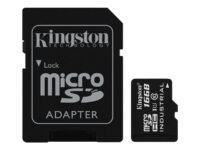 Kingston - Flashminnekort (microSDHC til SD-adapter inkludert) - 16 GB - UHS ...