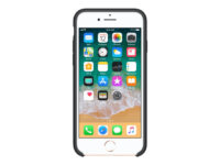 Apple - Baksidedeksel for mobiltelefon - silikon - svart - for iPhone 7, 8
