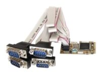 StarTech.com 4 Port RS232 Mini PCI Express Serial Card w/ 16650 UART - Seriel...