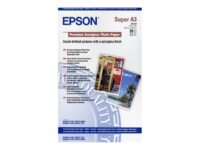 Epson Premium Semigloss Photo Paper - Halvblank - A3 plus (329 x 423 mm) 20 a...