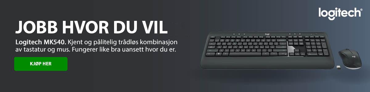 Logitech Illuminated K740 tastatur Pan Nordic oransje